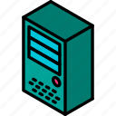 drive, hard, iso, isometric, tech, technology icon