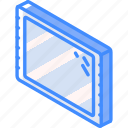 iso, isometric, tablet, tech, technology icon