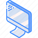 computer, iso, isometric, tech, technology icon