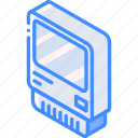 computer, iso, isometric, old, tech, technology icon