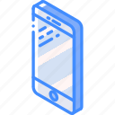 iso, isometric, mobile, phone, tech, technology icon