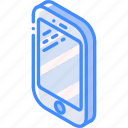 iso, isometric, phone, smart, tech, technology icon