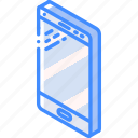 isometric, phone, iso, tech, technology, smart