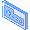 controller, game, iso, isometric, tech, technology icon