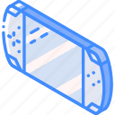 game, hand, held, iso, isometric, tech, technology icon