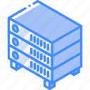 iso, isometric, network, tech, technology icon