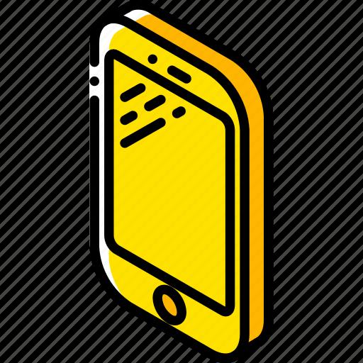 iso, isometric, phone, smart, tech, technology icon