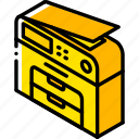 copier, iso, isometric, photo, tech, technology icon
