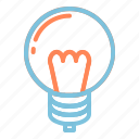 bulb, electronic, lamp, light, modern, tech, technology icon