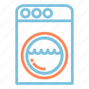 electronic, laundry, modern, tech, technology, wash, washing machine icon