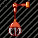 pressure, mechanical, cartoon, logo, grabber, object, meter icon