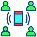 business, communication, group, interaction, people icon