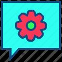 bubble, communication, configure, message, talk icon