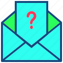 email, envelope, help, inbox, mail, support icon