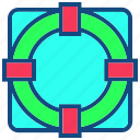 customer, help, life guard, service, support icon