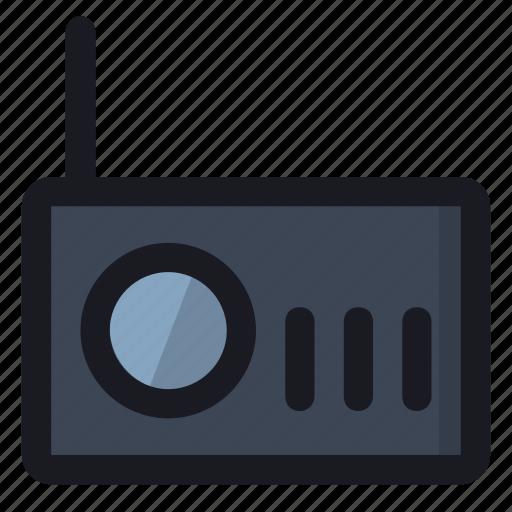 audio, device, music, radio, sound icon