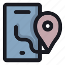 location, map, mobile, phone, place icon