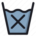 absent, cross, no, wash, water icon