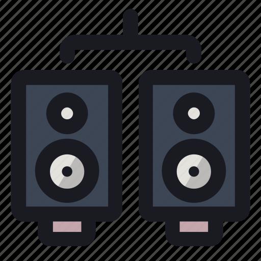 audio, loud, sound, speakers, volume icon