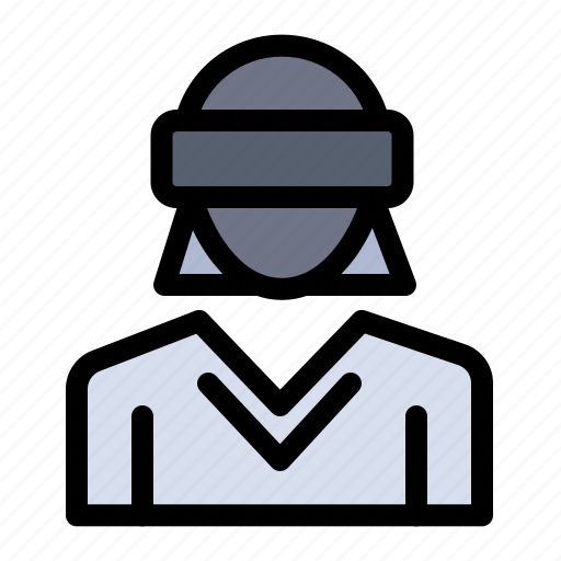 Glasses, motion, reality, technology, woman icon - Download on Iconfinder