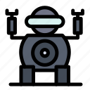 robot, technology, toy icon