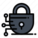 digital, lock, technology icon