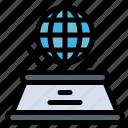 hologram, imagination, presentation, world icon