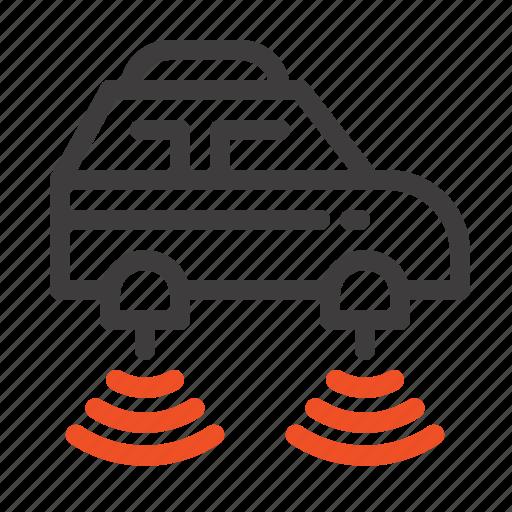 car, electric, network, smart, wifi icon