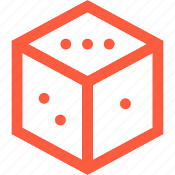 chance, cube, dice, gambling, game, number, random icon
