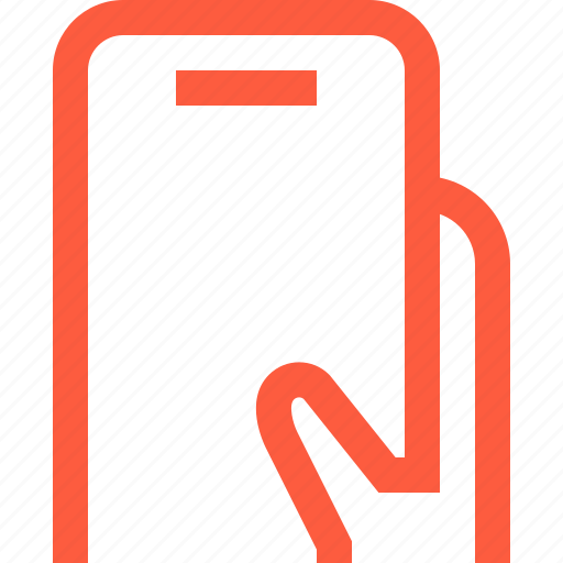gadget, hand, hold, holding, mobile, phone, smartphone icon