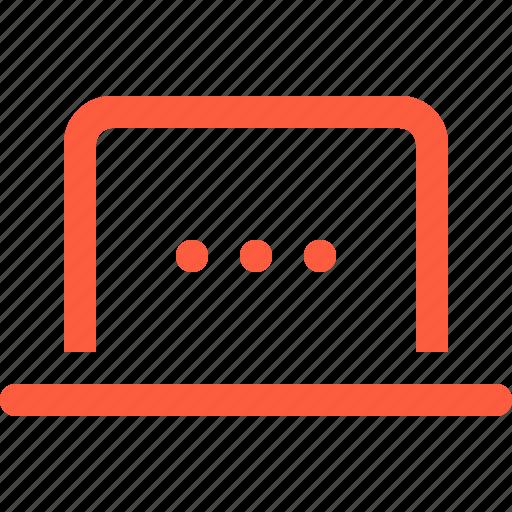 computer, laptop, loading, screen, work icon