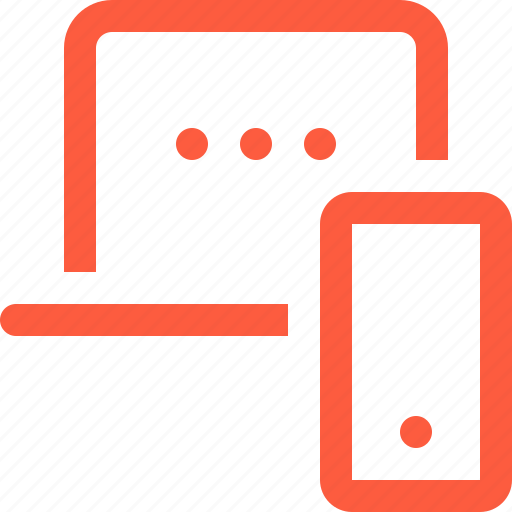 connection, laptop, mobile, pair, phone, sync, synchronization icon