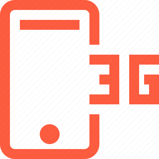 3g, cellular, connection, internet, mobile, network, phone icon