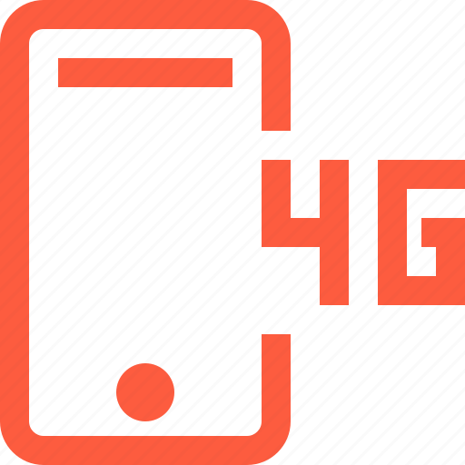 4g, cellular, connection, internet, mobile, network, phone, speed icon
