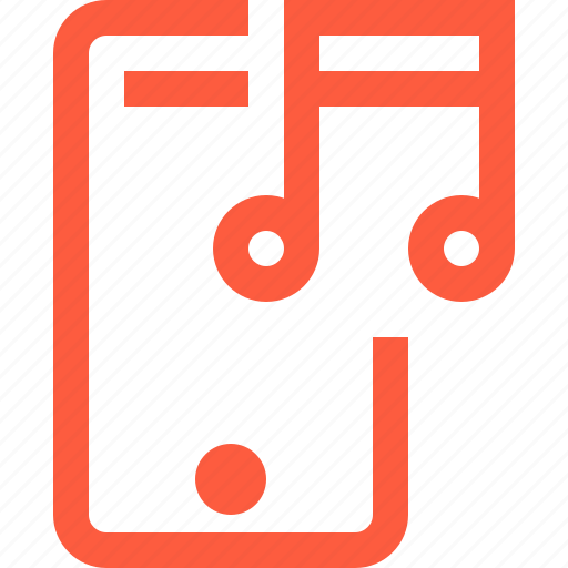 audio, listening, mobile, music, phone, service, streaming icon