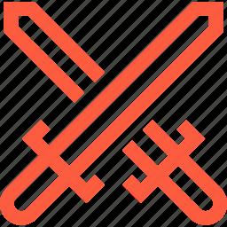 battle, clash, contest, crossed, fight, swords, versus, vs icon