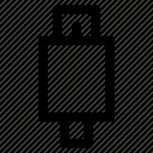 onthego, otg, technology, usb icon
