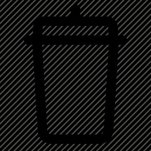bin, can, dump, recyclebin, rubbish, technology, trash icon