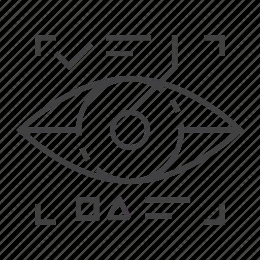 augmentation, eye, eyetap, scan, scanning, smart, technology icon