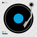 dj, mixer, music, player icon