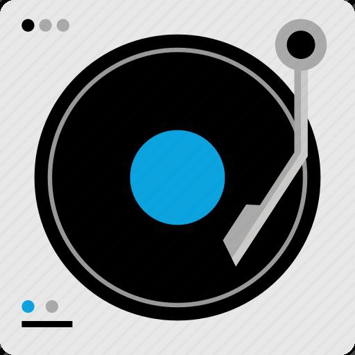 dj, mixer, music, player icon