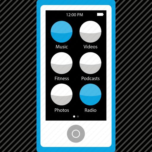 audio, ipod, music, player icon