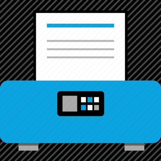 online, printer, web, wireless icon