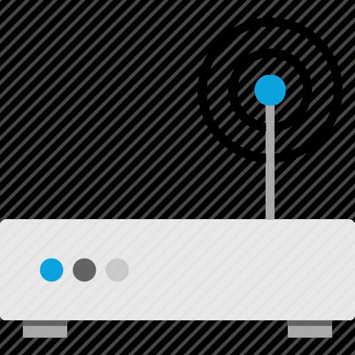 antenna, router, technology, wireless icon