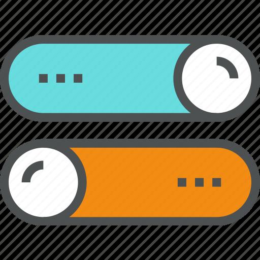 adjustment, interface, settings, setup, slider, switch, toggle icon