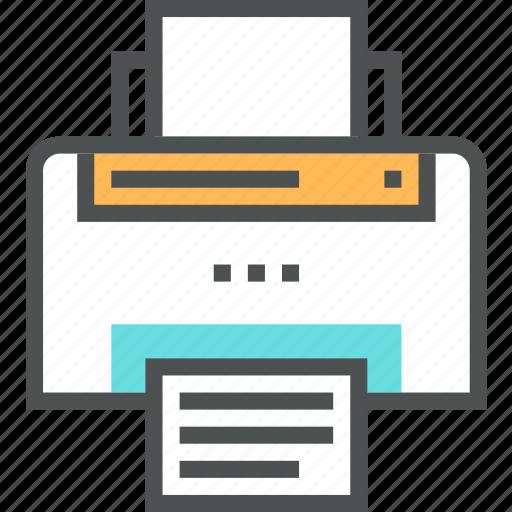 office, paper, print, printed, printer, printout icon