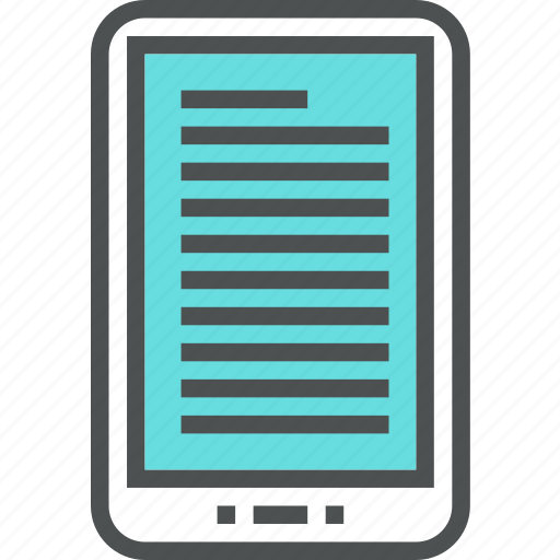 book, device, digital, ebook, electronic, ereader, reader, tablet icon