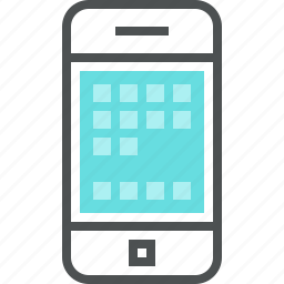 interface, iphone, mobile, phone, screen, smart, smartphone, technology icon