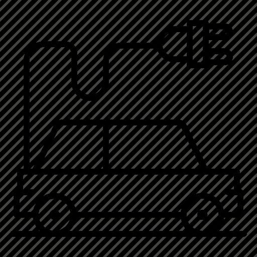 automobile vehicle, drive electric, ecological transport, electric car, plugin car icon