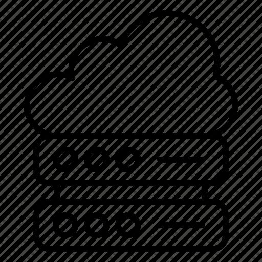 cloud computing server, cloud dataserver, cloud server hosting, cloud storage, web hosting icon